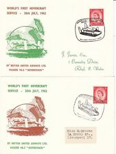 HOVERCRAFT:1962 World's First Hovercraft Service-WALLASEY-RHYLL-out and in cards