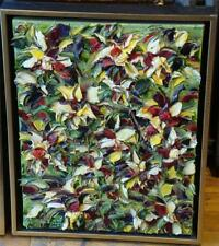 ORIGINAL RARE ABSTRACT FLORAL PAINTING RENEA MENZIES 2010 RET: $3600