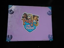 VINTAGE PONY IN MY POCKET RIDING AND  ARENA PLAYSET CARRY CASE WITH PONYS