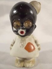 German Bisque Snowflake Googly Eyed Figurine Black Americana Oscar Hitt