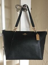 Coach F57526 Crossgrain Leather Ava Tote Black