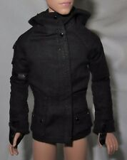 *TOP ~KEN DOLL HUNGER GAMES MOCKINGJAY PEETA GALE BLACK HOODED LONG SLEEVE SHIRT