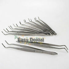 10pcs New Medical Forceps Tweezers Pliers Dental Instruments Tool