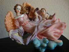 """Delicate Resin 4"""" Singing Angels  Figure Collection Top Christmas Tree Display"""