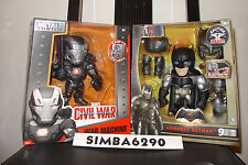 "6"" METALS WAR MACHINE ARMORED BATMAN Set MARVEL DC COMICS M11M67 IRON MAN black"