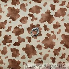 BonEful Fabric FQ Cotton Brown Tan Farm Cow Toy Story Horse Western Rodeo Print