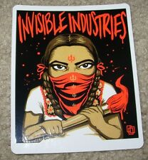 MUNK ONE Sticker RED PAINT GIRL from poster print Invisible Industries