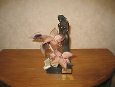 EGIPTO CRISTAL *NEW* Posture femme fleur Murano 9x11cm H.25cm Flower