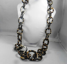 Signed Chico's Animal Print Resin Necklace p1200035