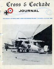 Cross & Cockade Journal ~ Autumn 1966 - World War 1 ~ Aviation History