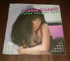 """Donna Summer 45 Giri """" THERE GOES MY BABY-MAYBE IT'S OVER """" WB"""