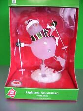 "2005 MERRY BRIGHT LIGHTED SKIIING SNOWMAN 10"" T CHANGES COLOR IN ORIGINAL BOX"