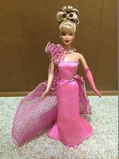 Barbie Pink Inspiration Doll 1998 Evening Gown Long Party Dress Glove Shoes