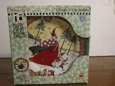 "Mary Engelbreit The Magic Of Christmas 8"" Salad Plates Set Of 4 Enesco 2001 MWB"