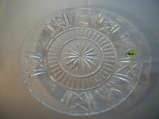 "WATERFORD CRYSTAL MILLENNIUM UNIVERSAL 5 TOAST 8"" ACCENT PLATE BEAUTIFUL!! MINT"