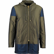 MARC JACOBS MENS LONG QUILTED PARKA BOMBER JACKET LONGLINE M MEDIUM KHAKI NAVY