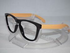 OAKLEY FROGSKINS SUNGLASSES FRAME ONLY Black w/ Light Orange/Yellow NO LENSES