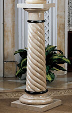 Luxury Spiraled Solid Marble Column Pedestal for home desplay bust plants