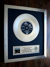 "THE BEATLES CAN'T BUY ME LOVE PLATINUM DISC 7"" SINGLE RECORD DISC AWARD"
