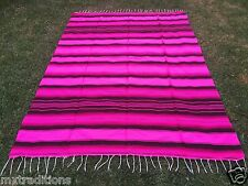 """Mexican Blanket Sarape Hot Pink. Acrylic""""84x60"""" Made in Mexico"""