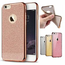 ROSE GOLD IPHONE 7 CASE, Bling Glitter Custodia in TPU Gel morbido