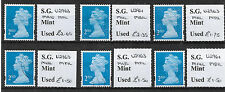 2010/14 G.B. 6 Different fine used Security Machins all identified and OFF paper
