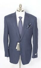 New CANALI 1934 Blue Birdseye Wool Jacket Blazer Coat 58 7R 48 48R fits 46R NWT!