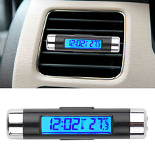 2 in 1 LED Digital Car Clock Thermometer Temperature Auto LCD Backlight