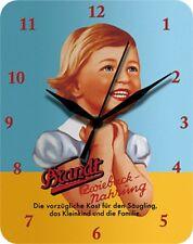 BRANDT ZWIEBACK NAHRUNG BLAU GELB  - Blechuhr Wanduhr Uhr Clock 10
