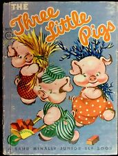 THE THREE LITTLE PIGS ~ Classic Vintage Children's Junior Elf Book