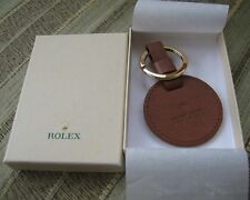 BRAND NEW GENUINE ROLEX KEY RING GOLD TONE & LEATHER BEAUTIFUL TAN BROWN RARE!!!