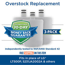 LG LT500P 5231JA2002A ADQ72910907 Comparable Refrigerator Water Filter 3 Pack