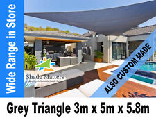 New Extra Heavy Duty Right Angle Triangle Shade Sail 3m x 5m x 5.8m Grey