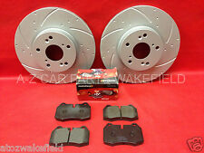 For Honda integra 2.0 DC5 Type R front grooved brake discs mintex pads TX071