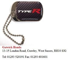 CARS KEY FOBS GENUINE NEW HONDA TYPE R DOG TAG KEY RING PHND0089100