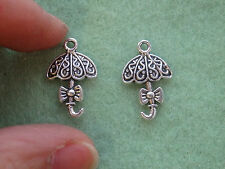 20 umbrella charms pendants beads Tibetan silver antique tone jewelry making -11