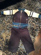 EUC Juicy Couture Baby Boy Cotton Blue Tracksuit Top And Bottom Size 6-12 Months