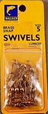 Trout Fishing 1 Pack Of 12 Walker #5 Brass Snap Swivels +A