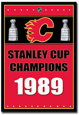 """Calgary Flames Stanley Cup Champions NHL Fridge Magnet Size 2.5"""" x 3.5"""""""