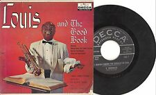 Hi Fi Decca 45 EP Records Louis Armstrong and The Good Book ED 2618 UK Recording