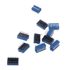 10pcs 6P 6 Position DIP Blue Switch 2.54mm Pitch 2 Row 12 Pin Slide Switch