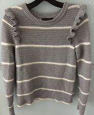 BANANA REPUBLIC GREY RUFFLE SWEATER SZ XS