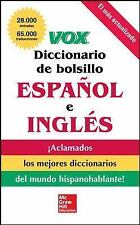 VOX Diccionario de Bolsillo Español y Inglés by Vox Staff (2011, Paperback)