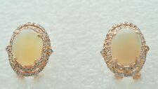 Opal Ohrstecker Echt Opal 925 Silber Sterlingsilber Rot Vergoldet