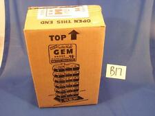 J68 VINTAGE 1940'S 6 GEM FEATHER WEIGHT RAZOR BLADES FACTORY SHIPPING BOX ONLY