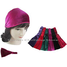 6 Velvet headwrap w/elastic Headband Stretch Bandana Turban Hair lot Wholesale