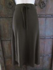 James Perse Women's Pull-On Drawstring Cotton Maxi Skirt in Brown Size 2 MEDIUM