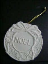 Noel Wreath Christmas Ceramic Ornaments Ready To Paint (Both Sides)-3.5 Inches R