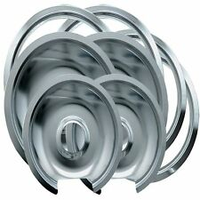Range Kleen 1056RGE8 GE Hinged Drip Pans and Trim Rings Containing 2 Units 105A,