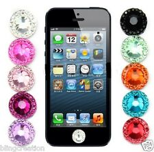 Bling Rhinestone Home Button Stickers For Apple iPod Touch iPhone 3GS 4 4S 5G